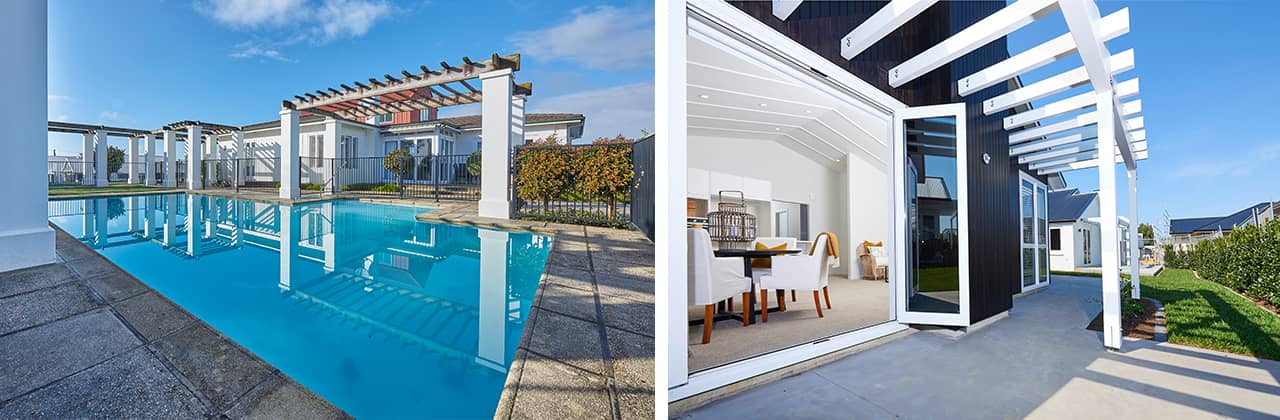 Pool and villa slider
